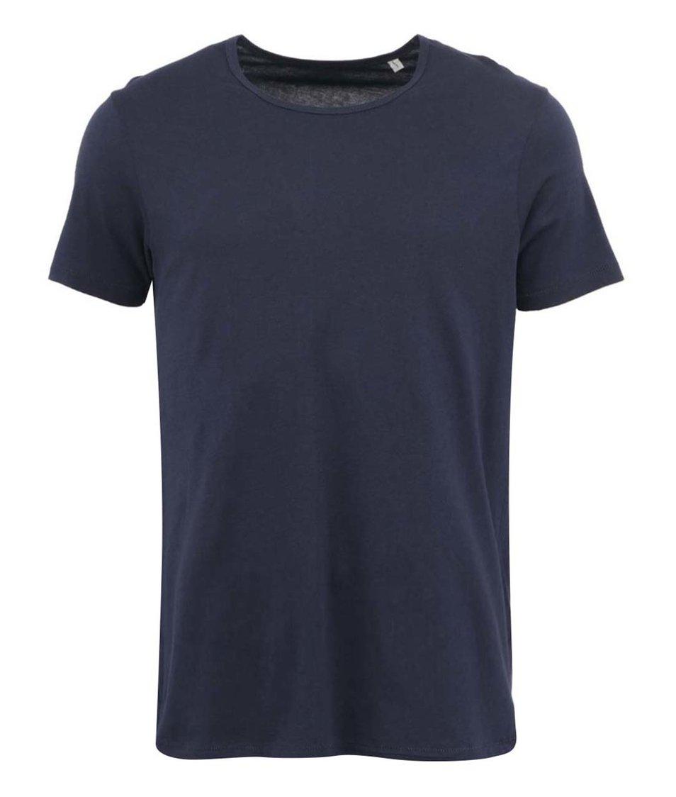 Tmavě modré pánské triko Stanley & Stella Adores