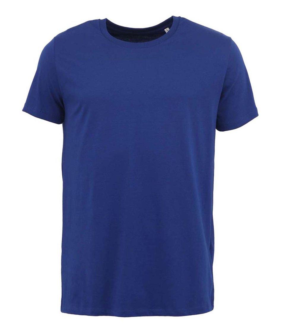 Sytě modré pánské triko Stanley & Stella Leads