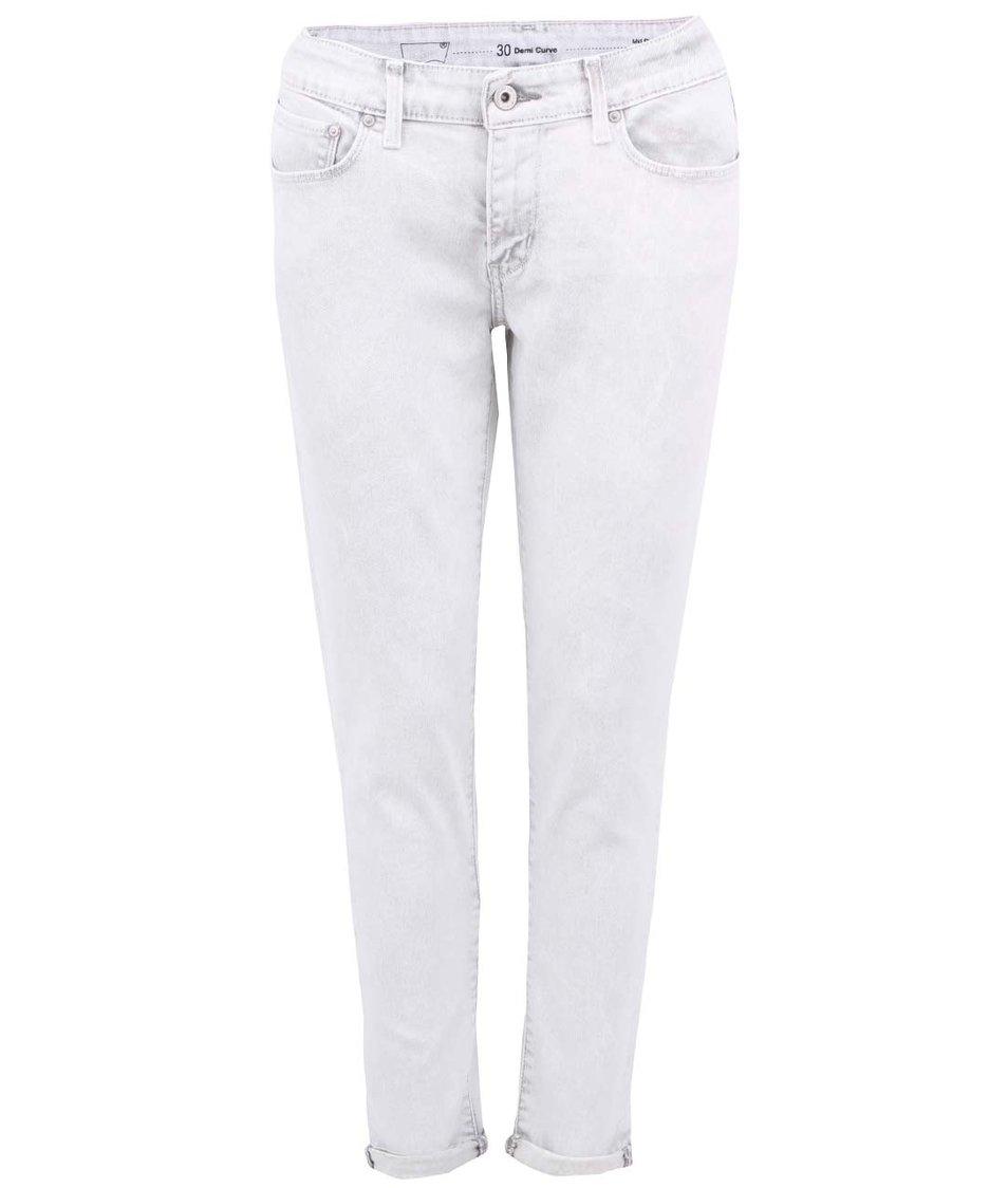Šedobílé dámské skinny džíny s ohrnutelnými nohavicemi Levi's®
