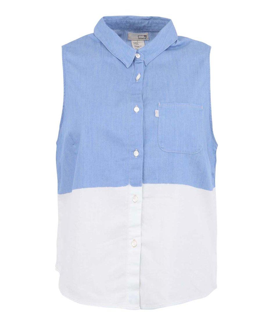 Modro-bílá halenka bez rukávů s náprsní kapsou Levi's®