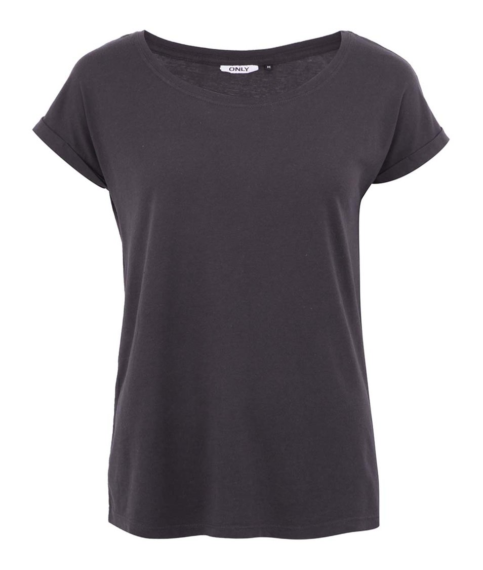 Tmavě šedé tričko ONLY Truly