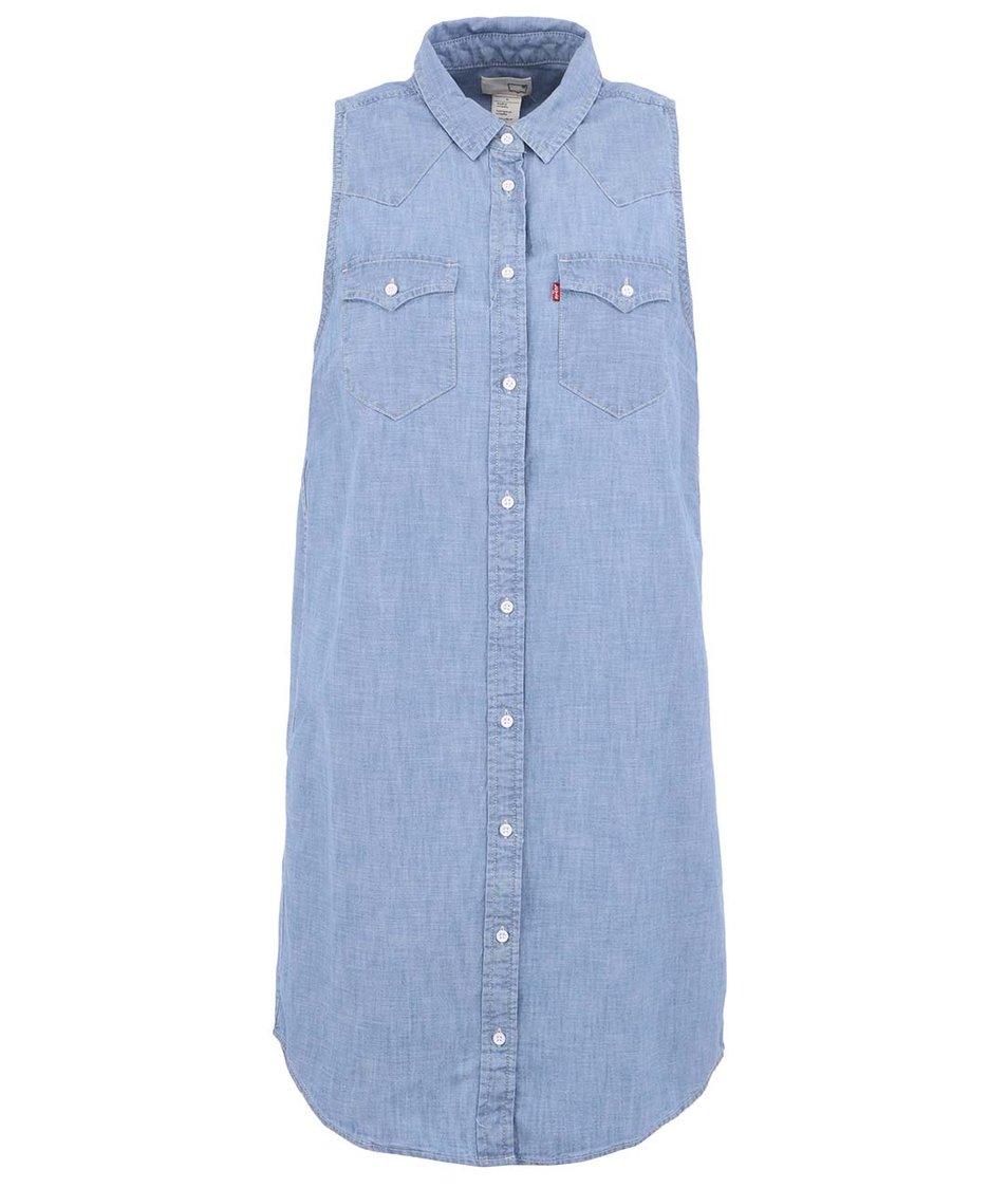 Světle modré denim šaty s knoflíčky Levi's®