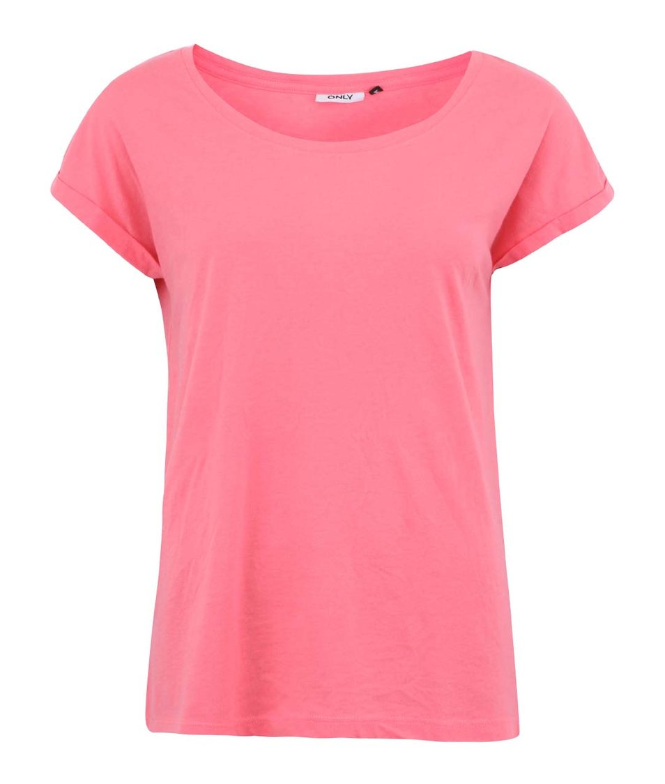 Růžové tričko ONLY Truly