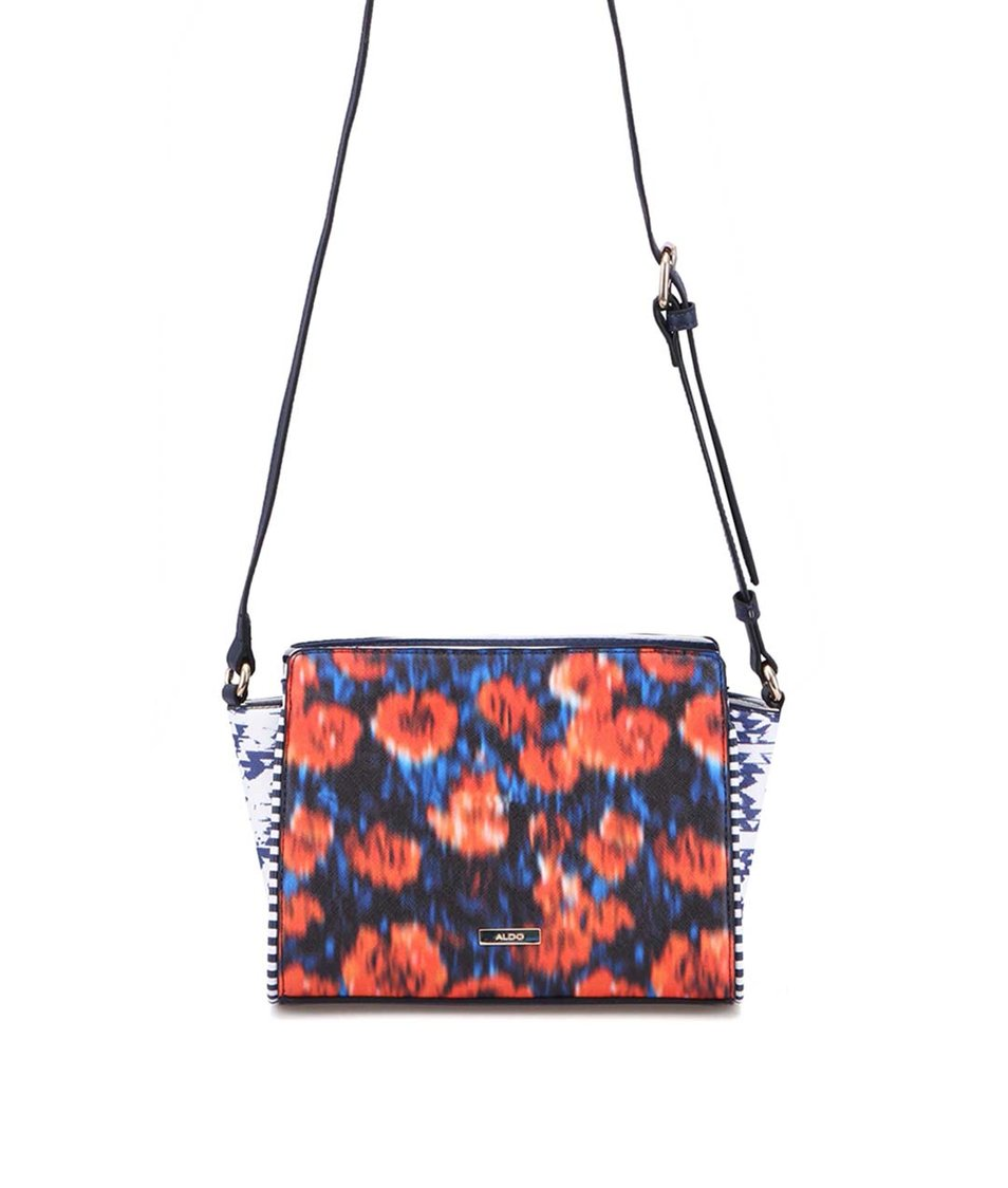 Oranžovo-modrá menší kabelka přes rameno ALDO Generous