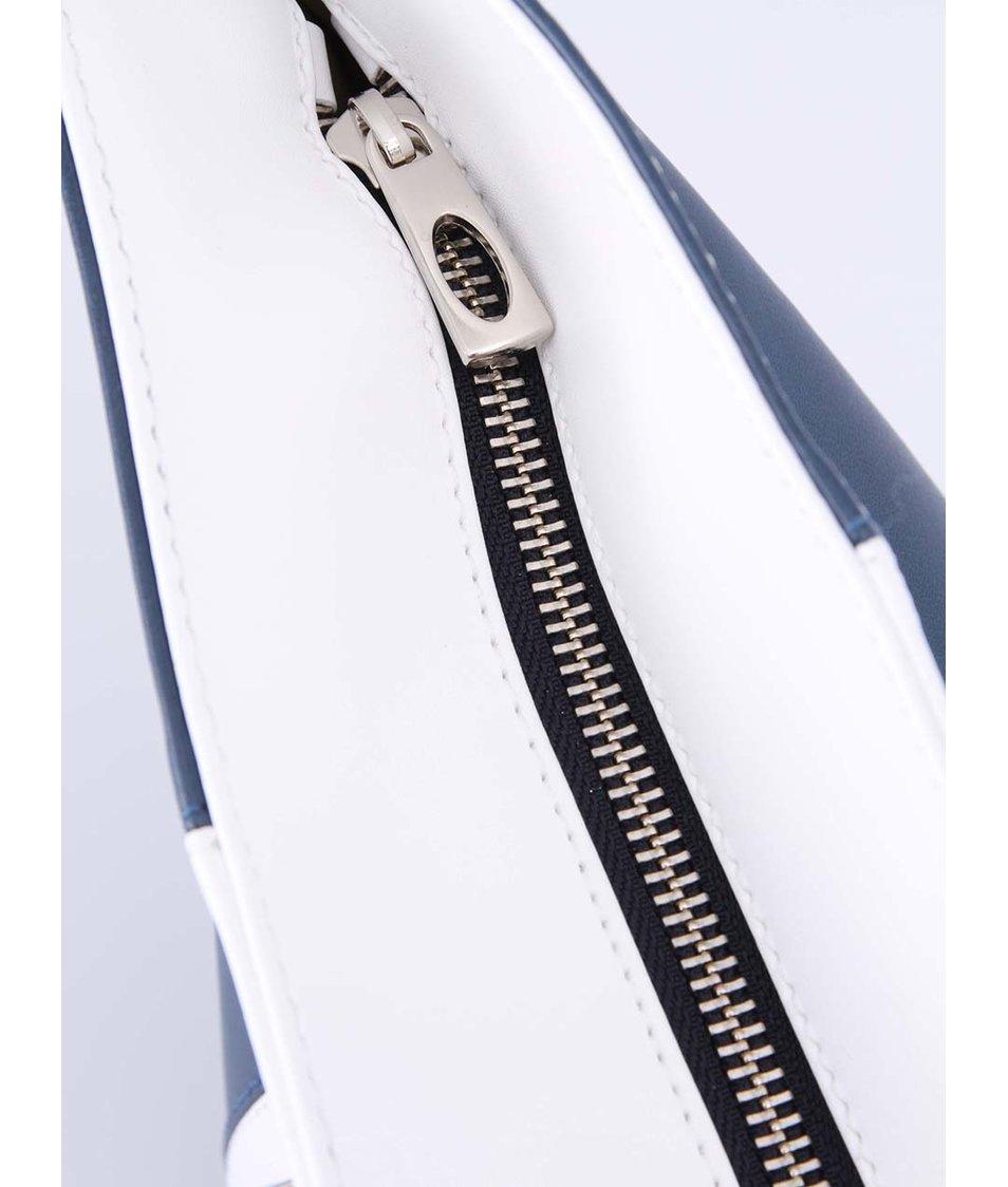 Bílo-modrá kabelka s hnědými uchy OJJU