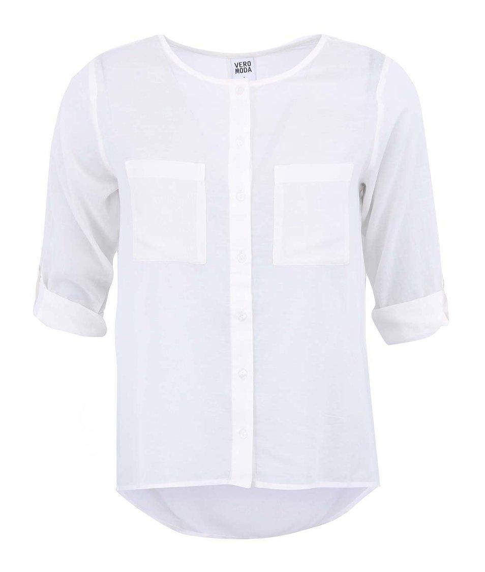 Bílá volnější košile Vero Moda Erina