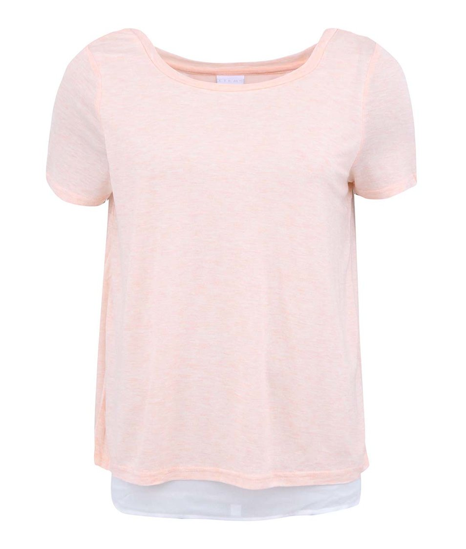 Meruňkové tričko s průstřihem na zádech Vero Moda Marie