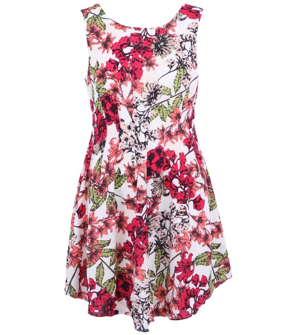 Bílé květované šaty Vero Moda Lily