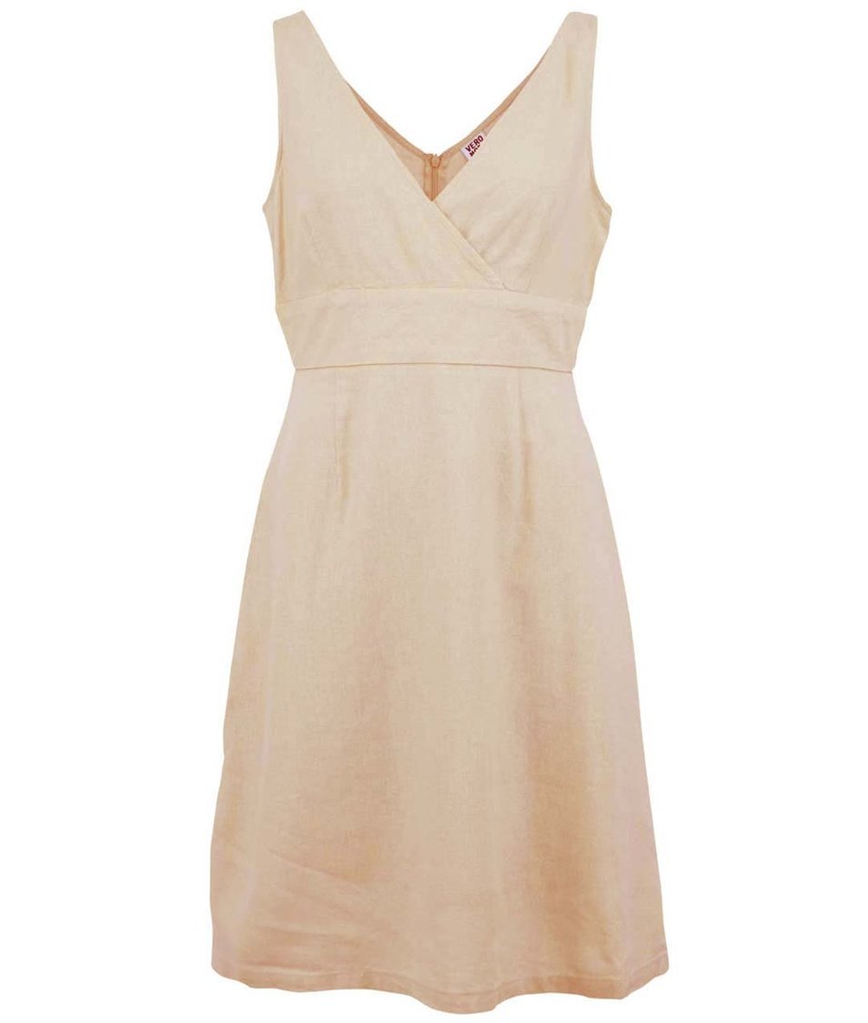 Béžové šaty Vero Moda Just Josephine
