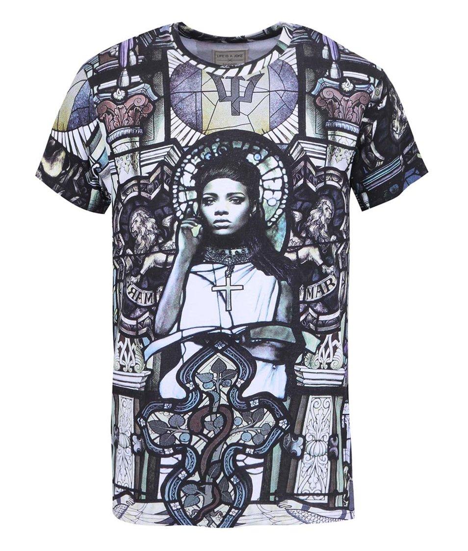Černé pánské triko s potiskem Eleven Paris Vihana