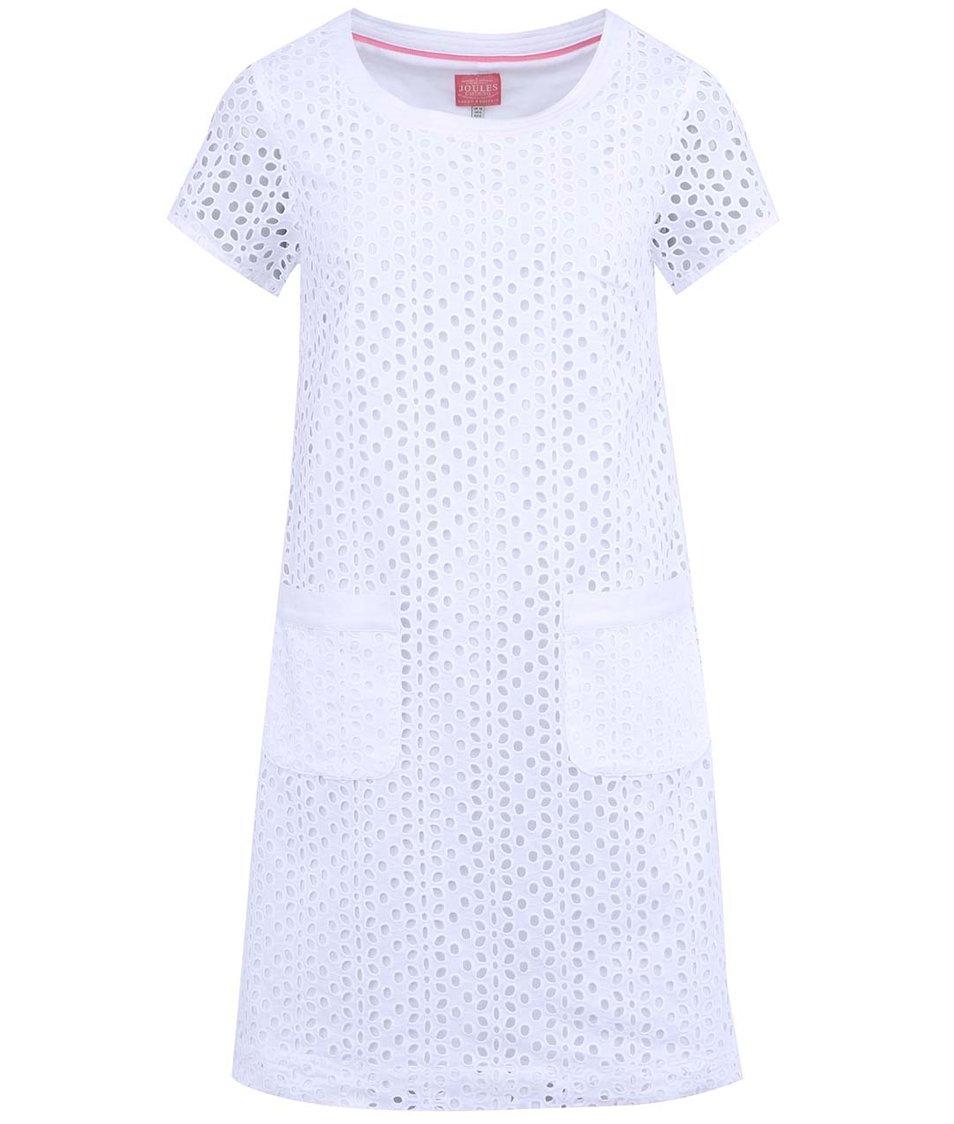 Bílé šaty s vyšívaným perforovaným vzorem Tom Joule Madeline