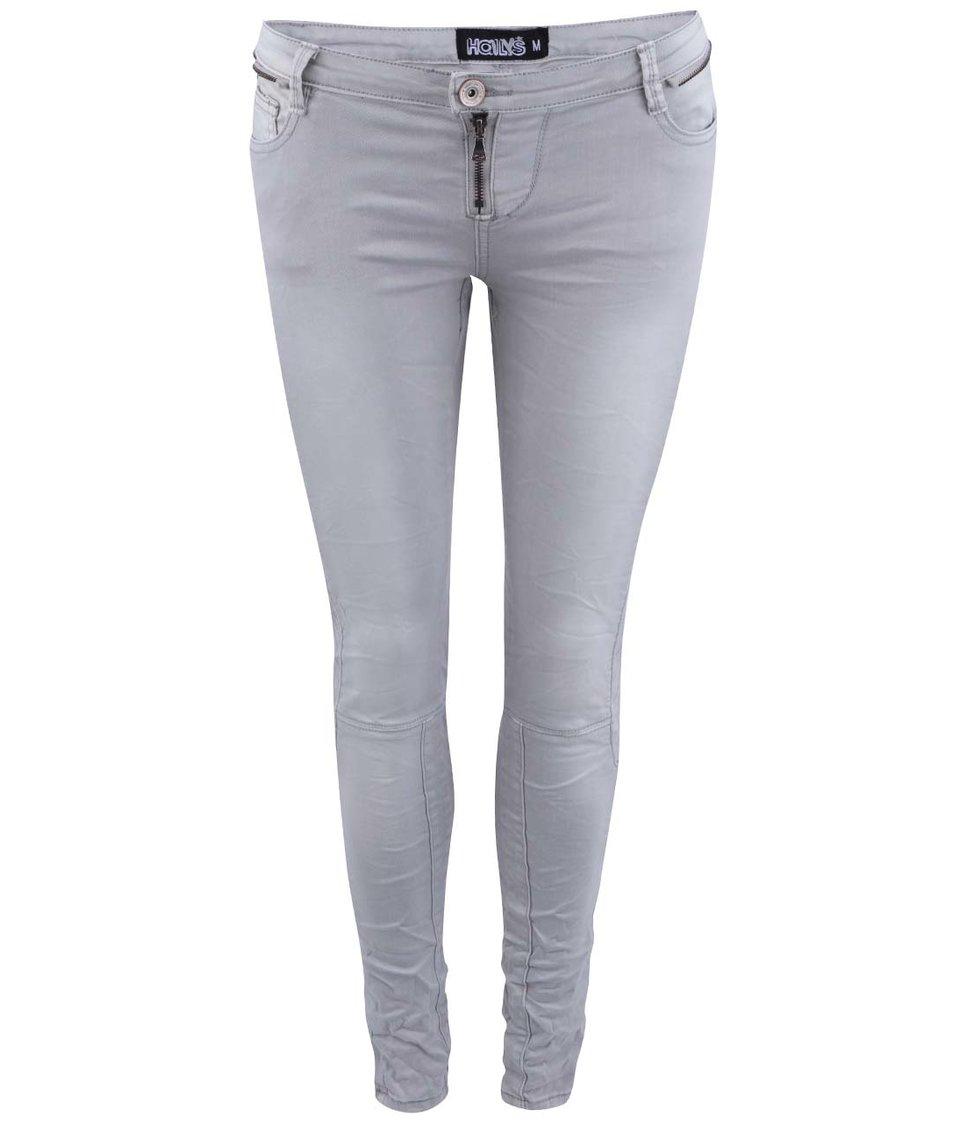 Světle šedé džíny s pomačkaným efektem Haily´s Tina