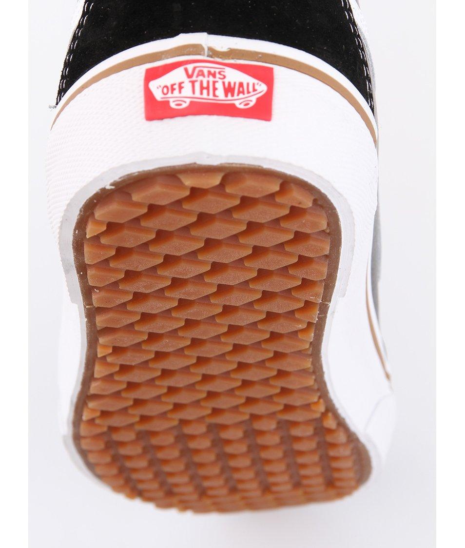 Černé pánské kožené kotníkové tenisky Vans SK8-Hi MTE - Vánoční HIT ... 62a9630cf1