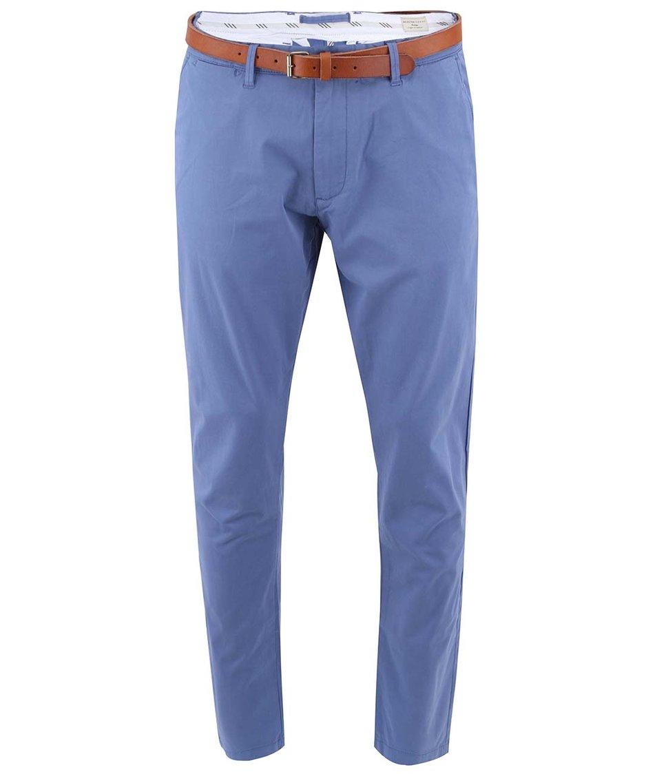Modré kalhoty s páskem Selected Yard