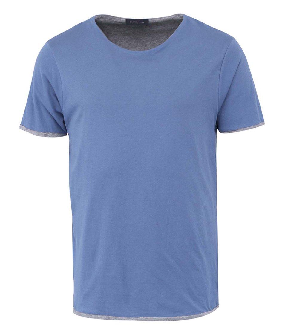 Modré dvojité triko Selected Inter