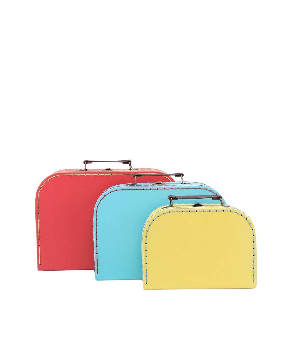 Barevné retro kufry Sass & Belle 3 kusy
