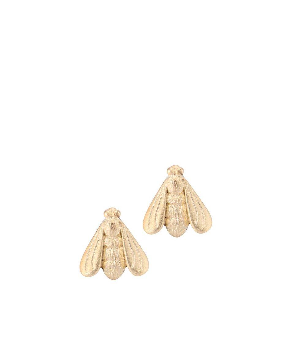 Náušnice ve tvaru včely ve zlaté barvě Lady Muck