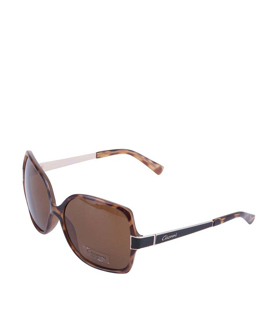 Černo-hnědé sluneční brýle Gionni LRG Plastic