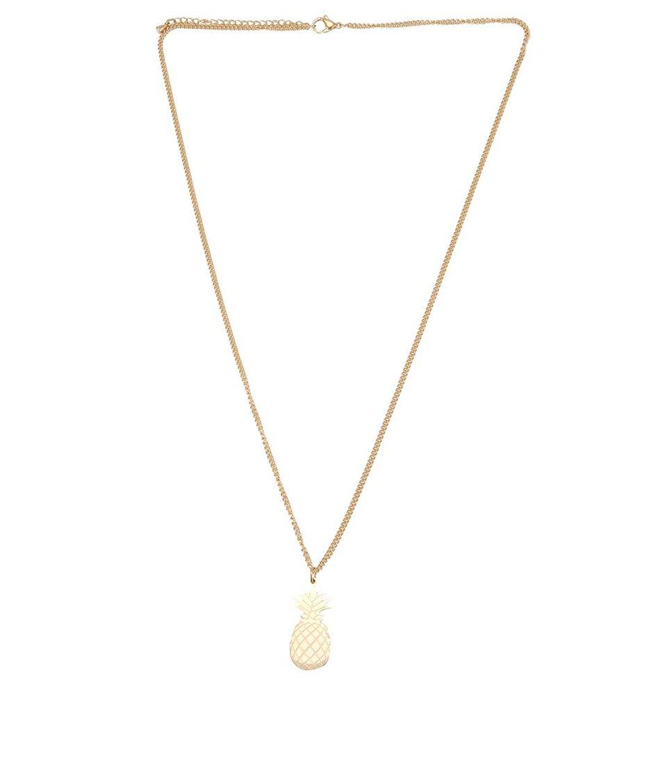 Pozlacený náhrdelník s přívěskem ve tvaru ananasu Lady Muck