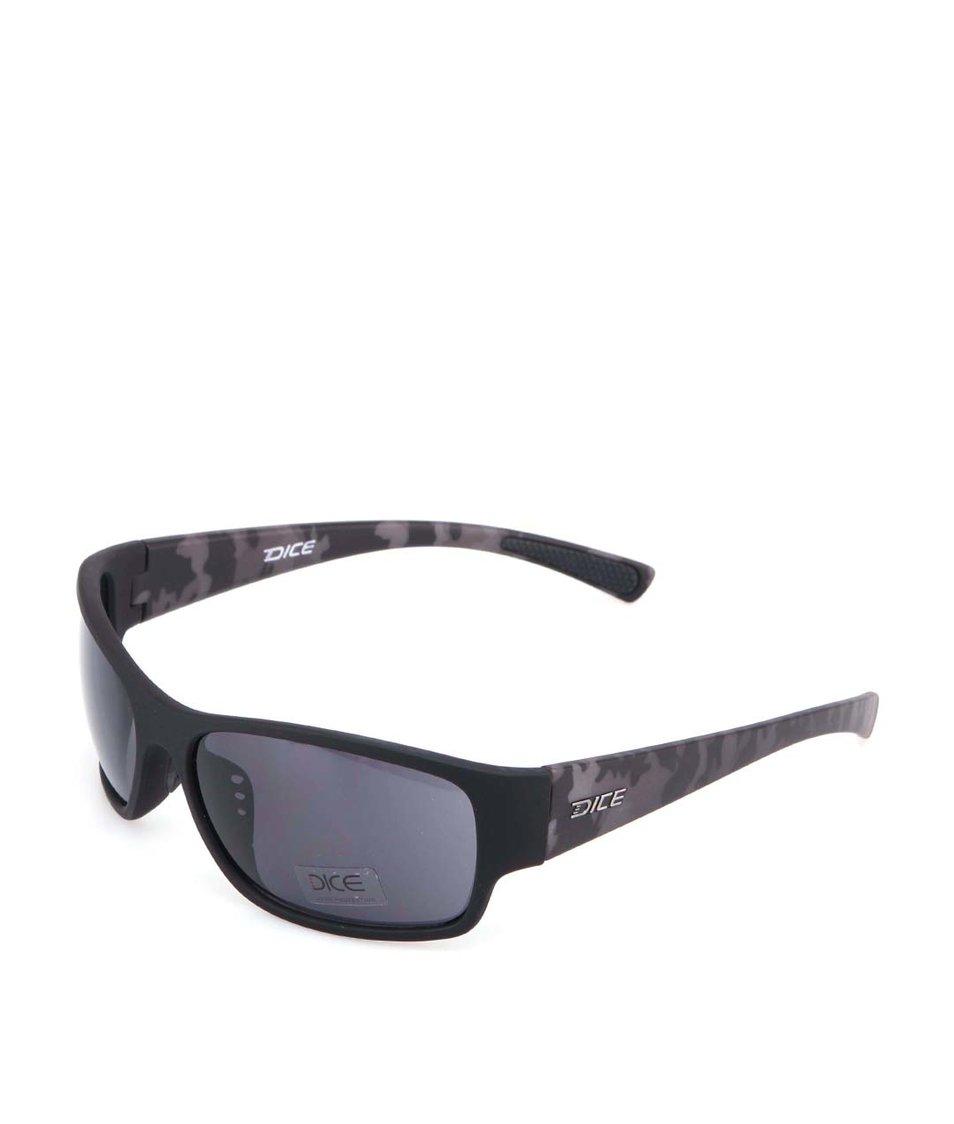 Černé sportovní sluneční brýle Dice Plastic Sports