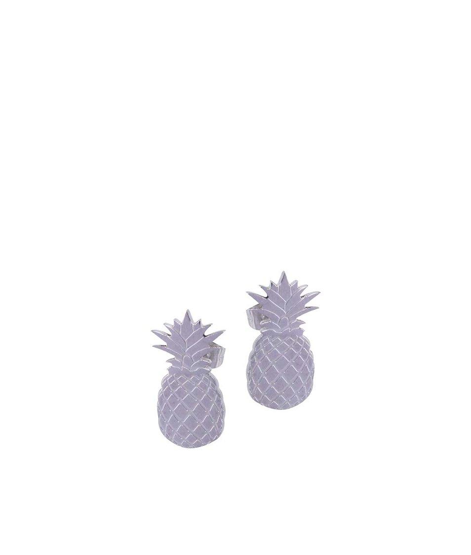 Ocelové náušnice ve tvaru ananasu Lady Muck