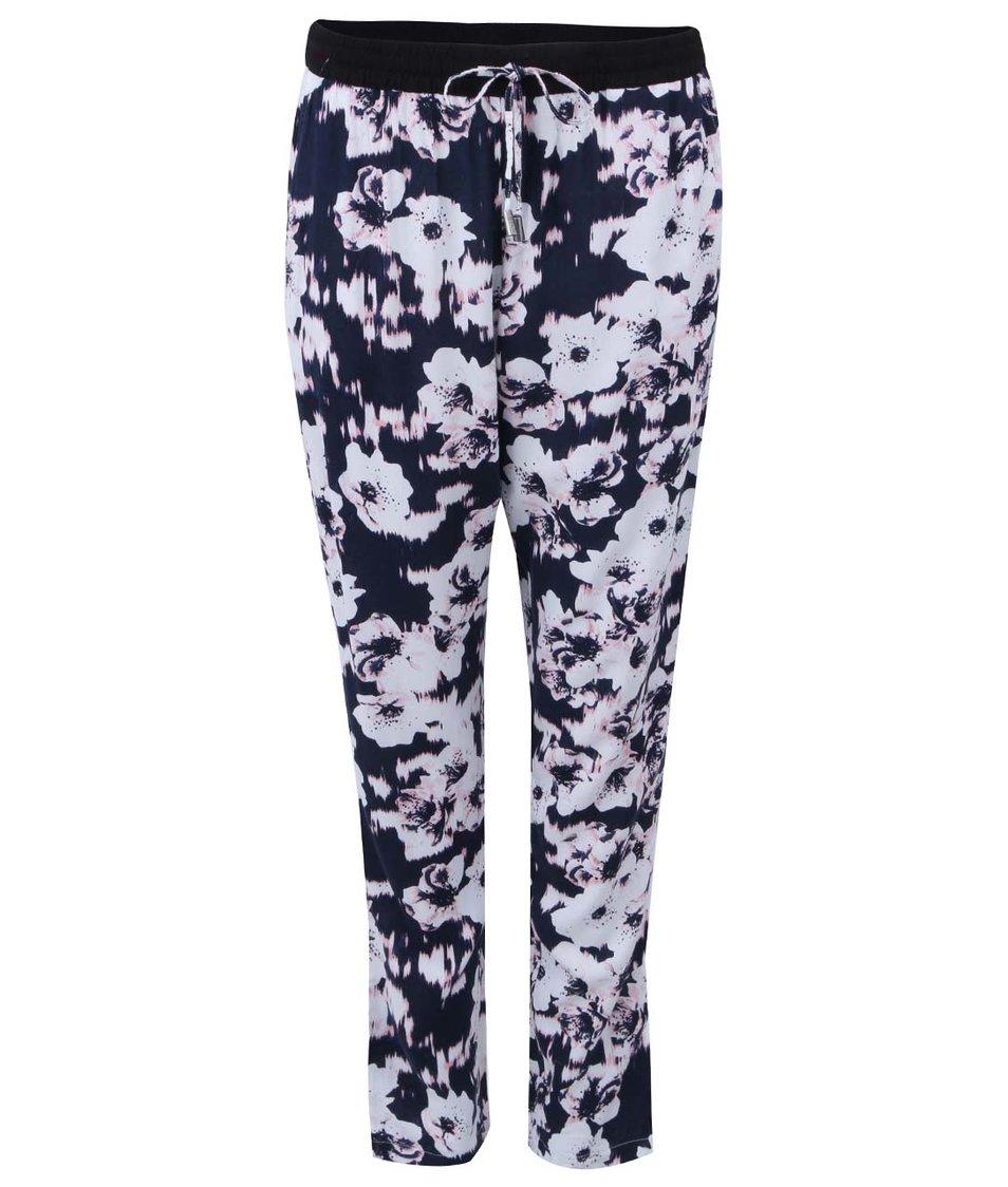 Bílo-modré květované kalhoty ONLY Choice