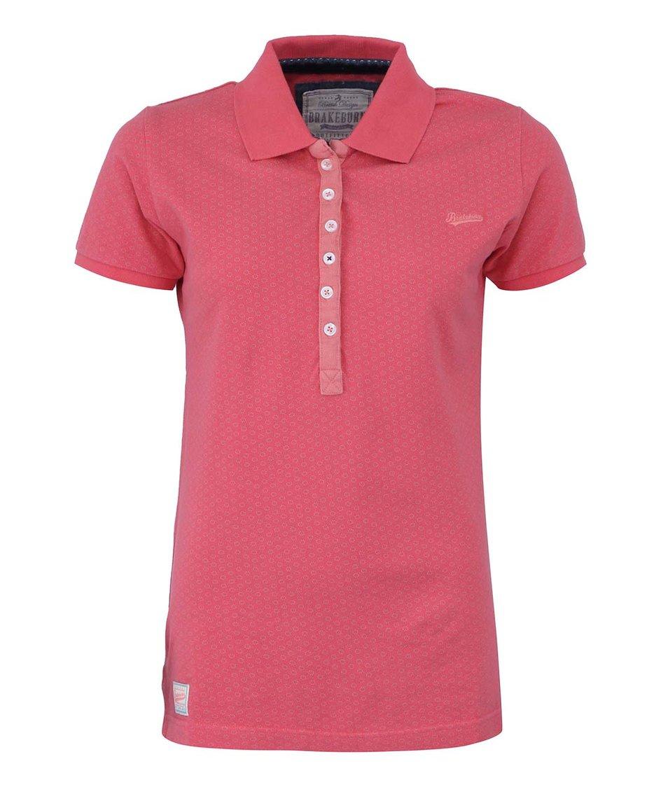 Růžové dámské polo triko s potiskem Brakeburn Circle