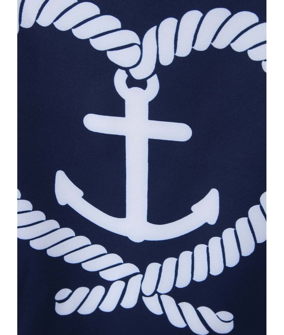 Tmavě modré tričko Kling Anchor and Hearts