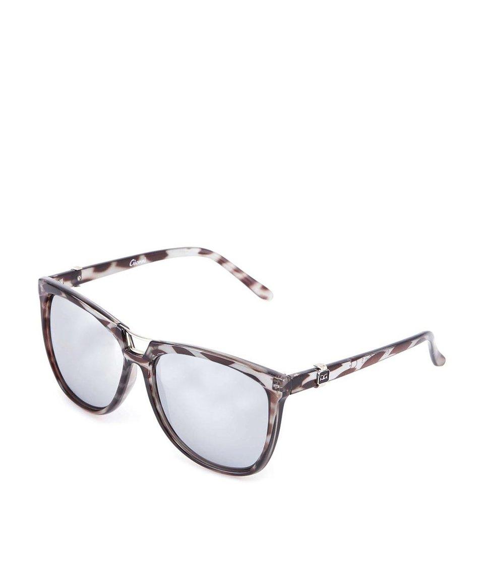 Černé vzorované sluneční brýle Gionni Cats Eye