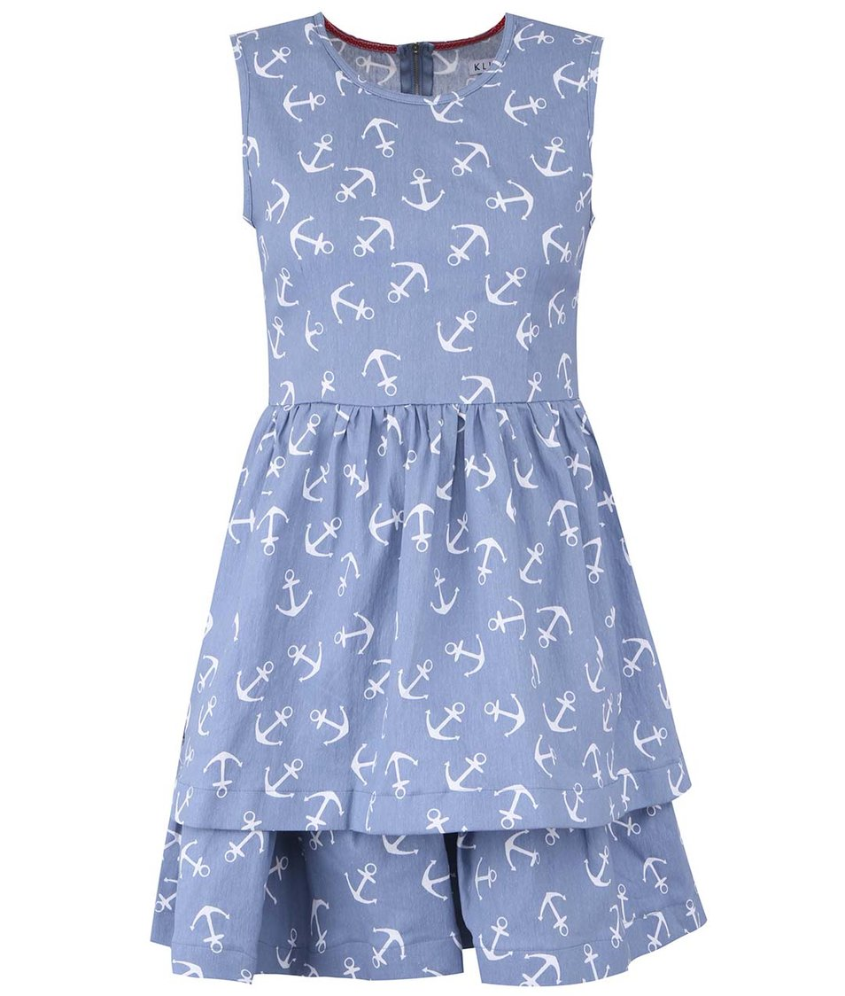 Světle modré džínové šaty s kotvičkami Kling Ancorine