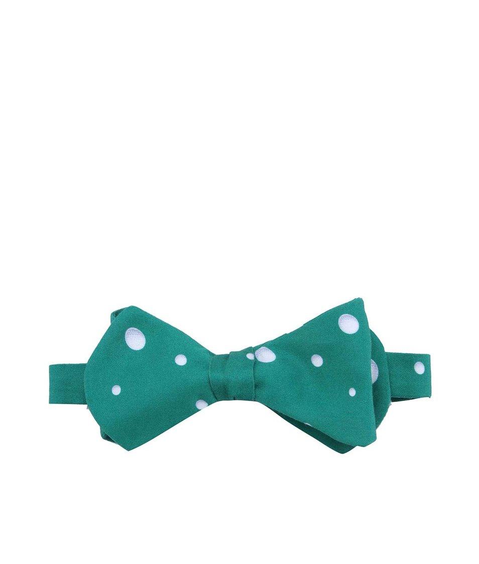 Zelený vázací motýlek Krispol Store Golfové míčky