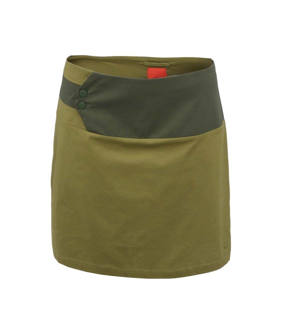 Olivově zelená sukně Skunkfunk Asona