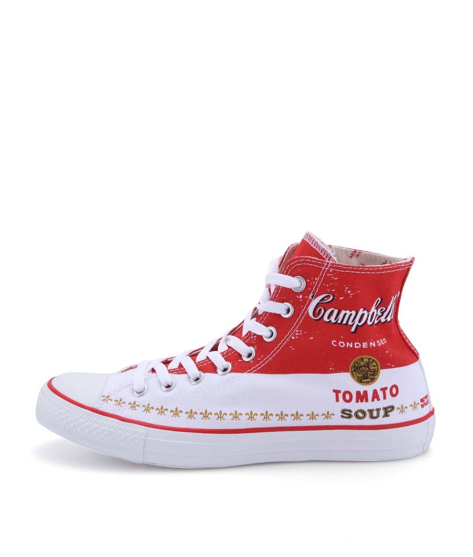 Červeno-bílé unisex tenisky Converse Chuck Taylor All Star