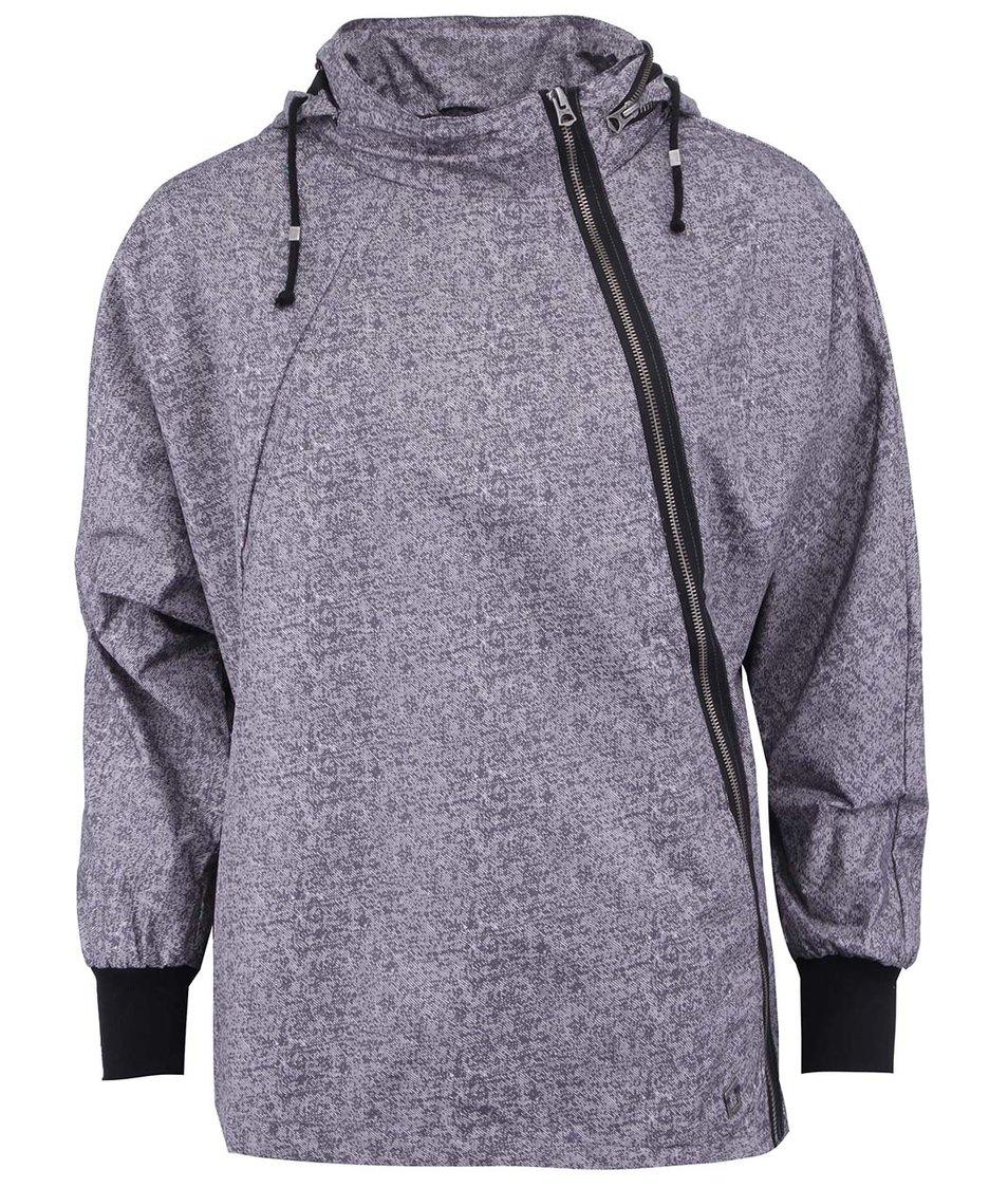 Šedá bunda s asymetrickým zipem Skunkfunk Lexa