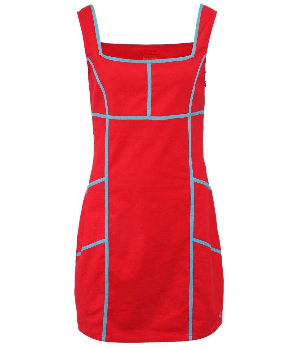 Červené lněné šaty Skunkfunk Erhe