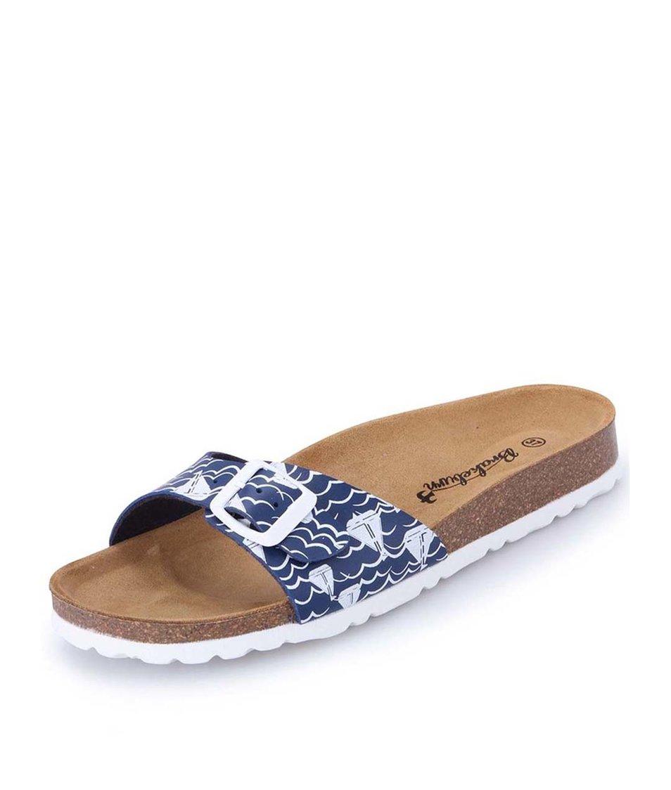 Modré pantofle Brakeburn Portland