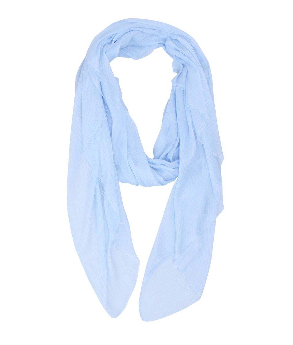 Světle modrý dlouhý šátek Pieces Colid