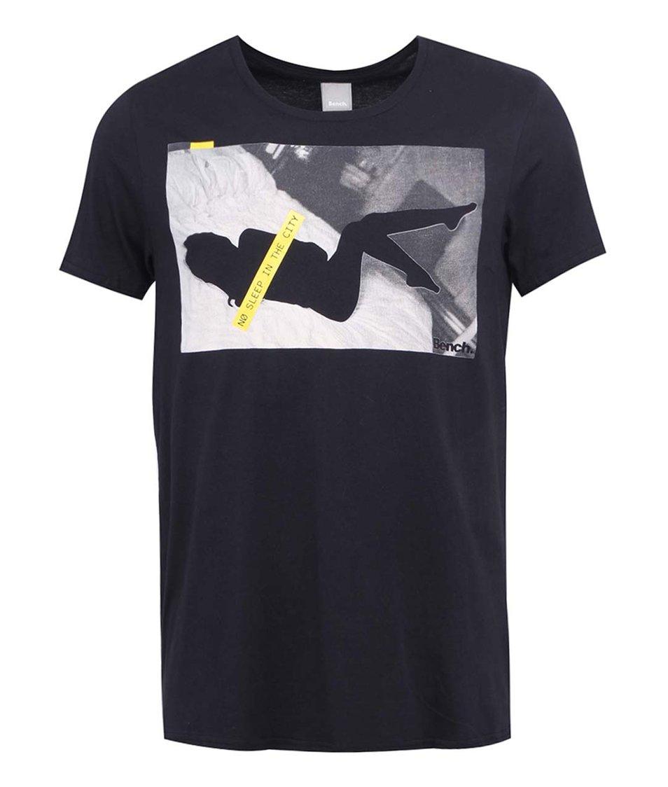 Černé pánské triko s potiskem Bench No Sleep