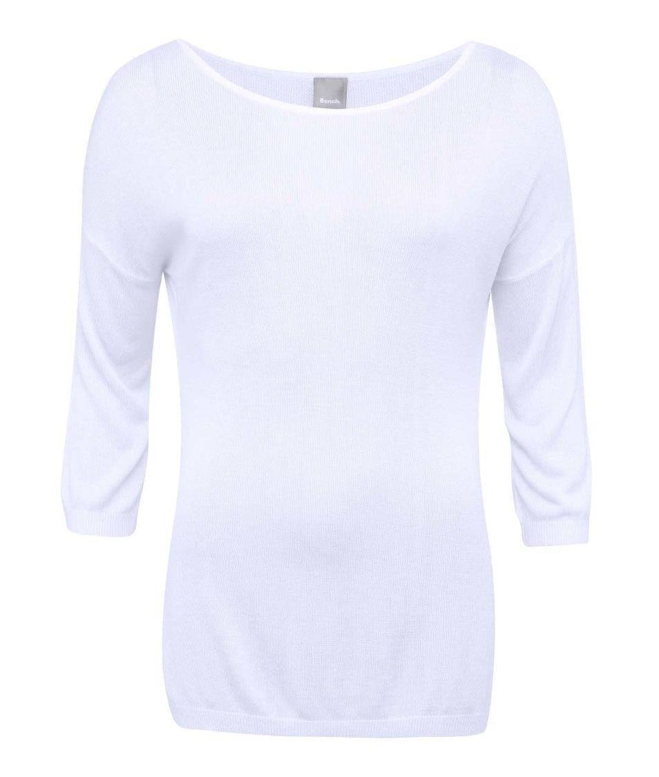 Bílý dámský svetr s 3/4 rukávy Bench Intelayce