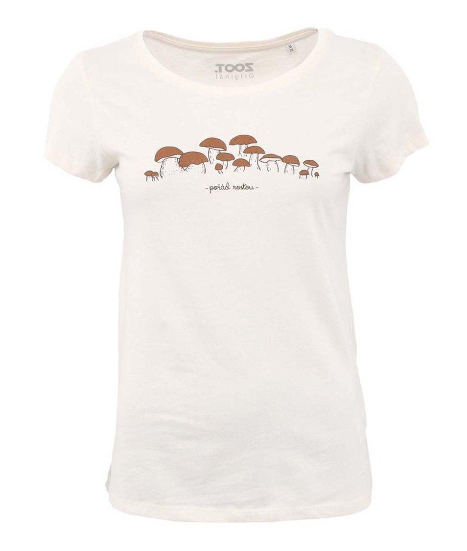 Krémové dámské tričko ZOOT Originál Jako houby po dešti