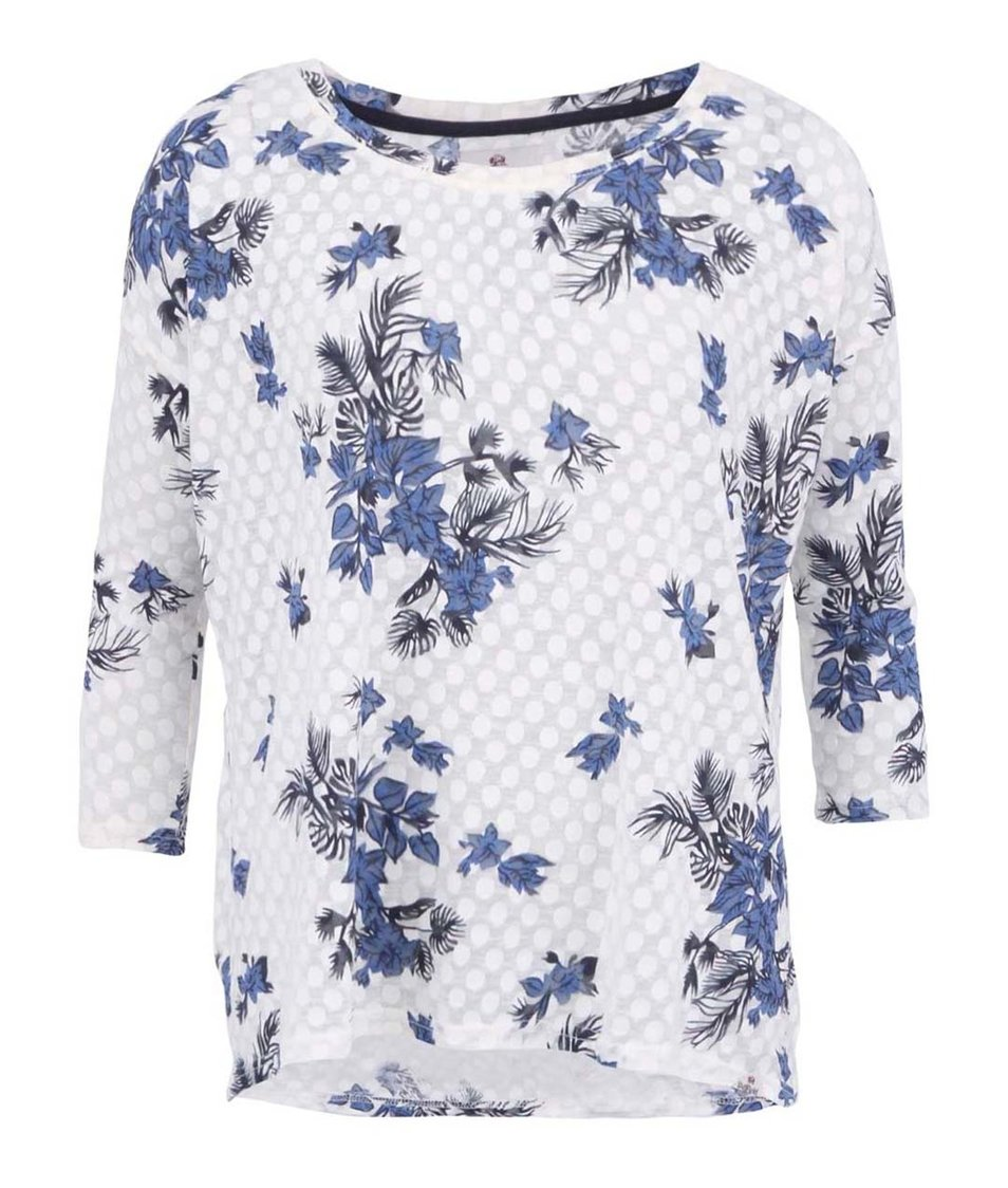 Bílé volné tričko s potiskem Bellfield Elizabeth