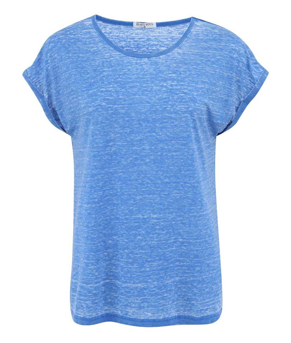 Modré žíhané triko Brave Soul Leahr