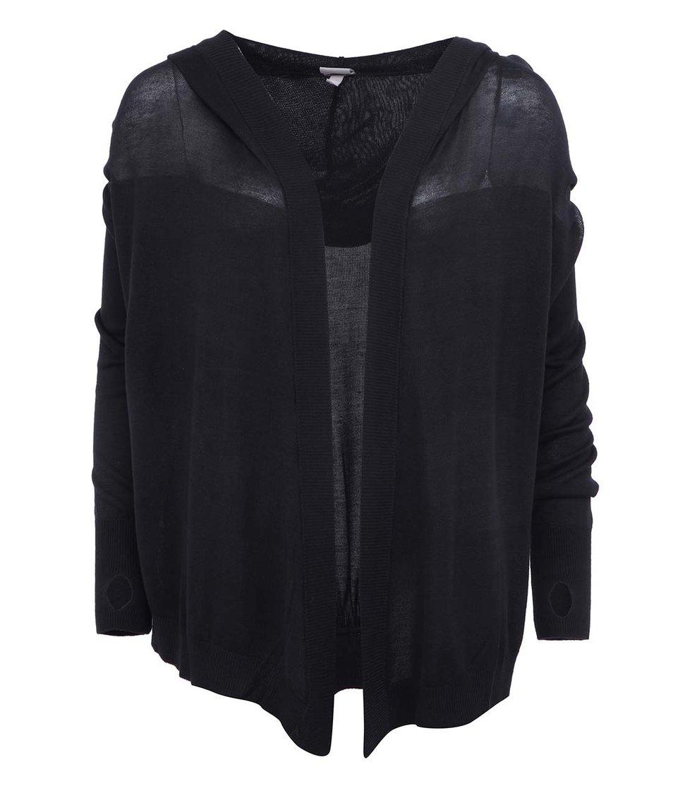 Černý dámský cardigans s kapucí Bench Droptop