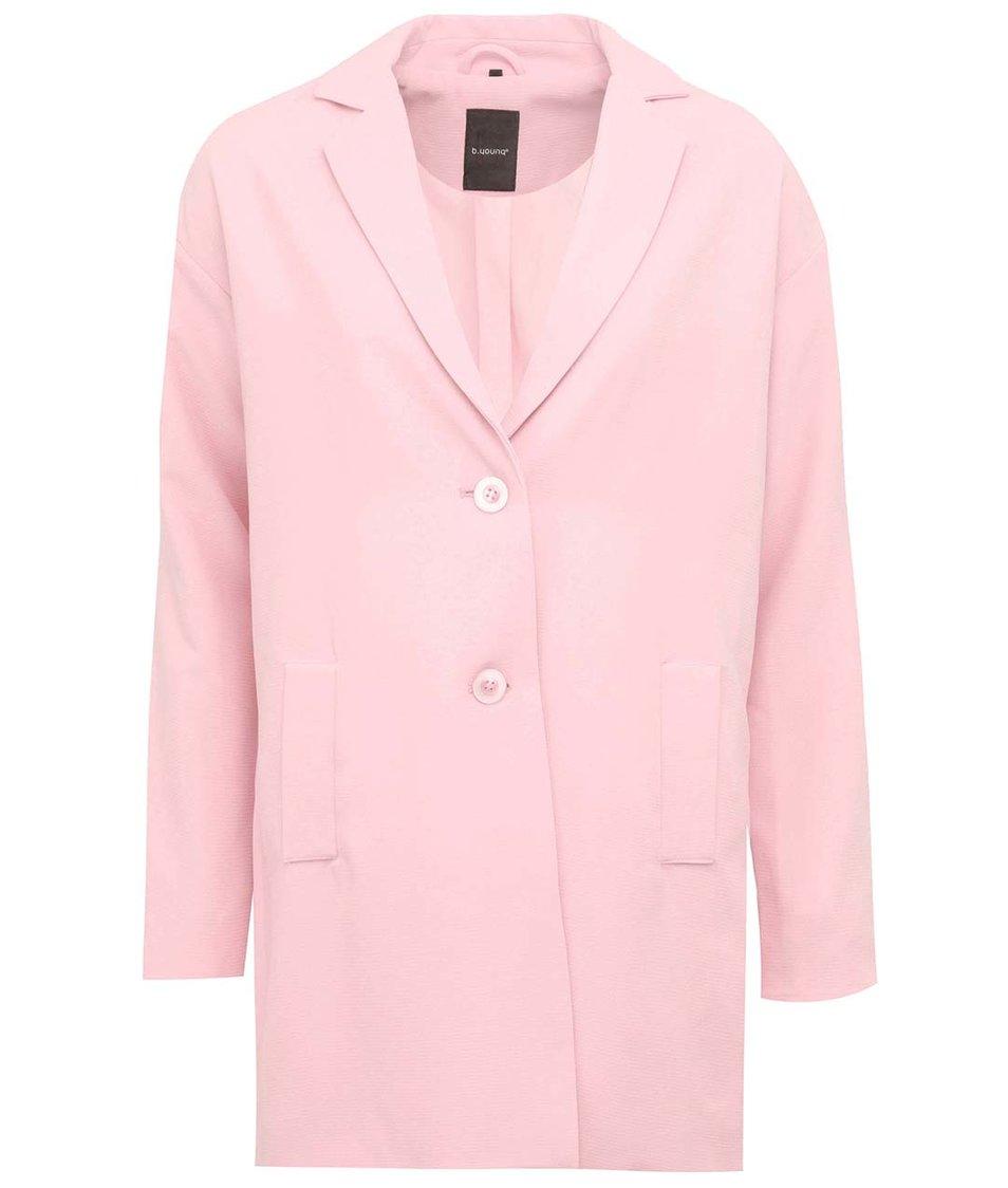Růžový oversized kabát b.young Catinka