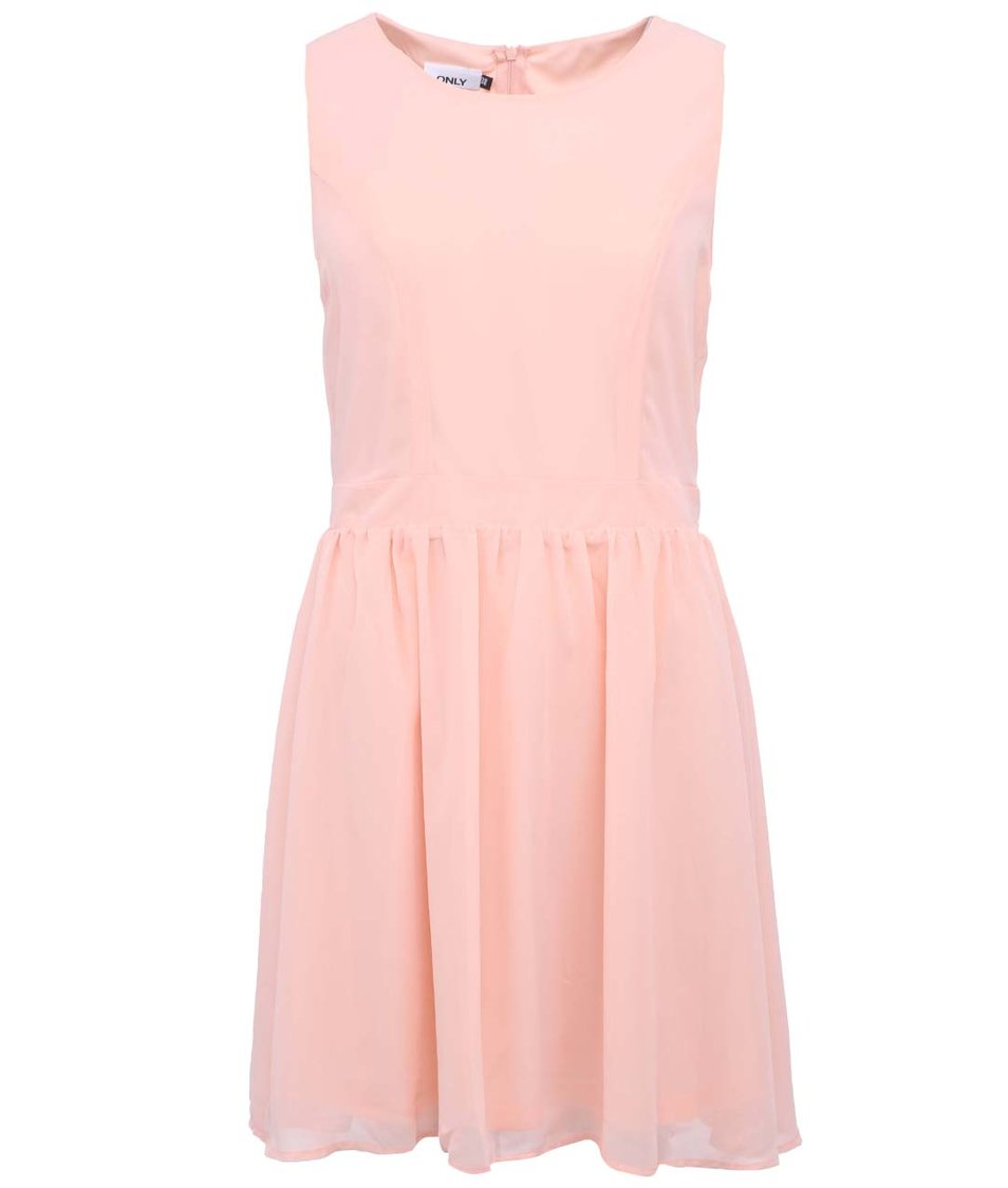 Meruňkové šaty ONLY Dara