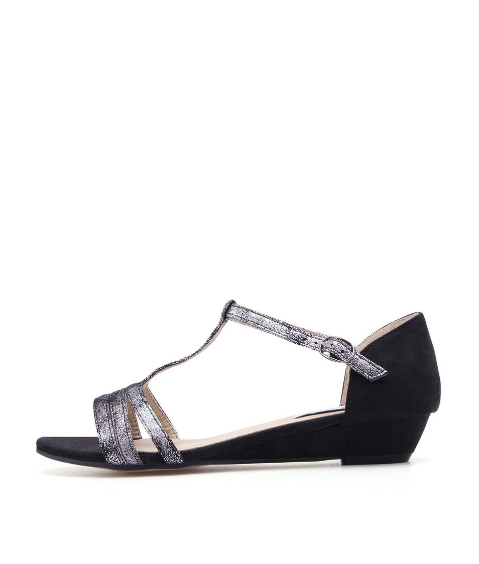 Černé sandálky s bílými přezkami La Push