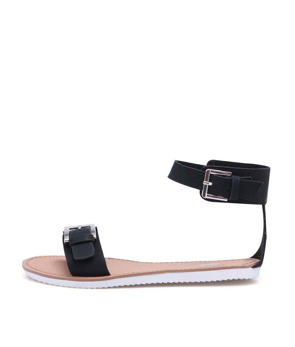 Černé sandálky s přezkou přes kotník La Push