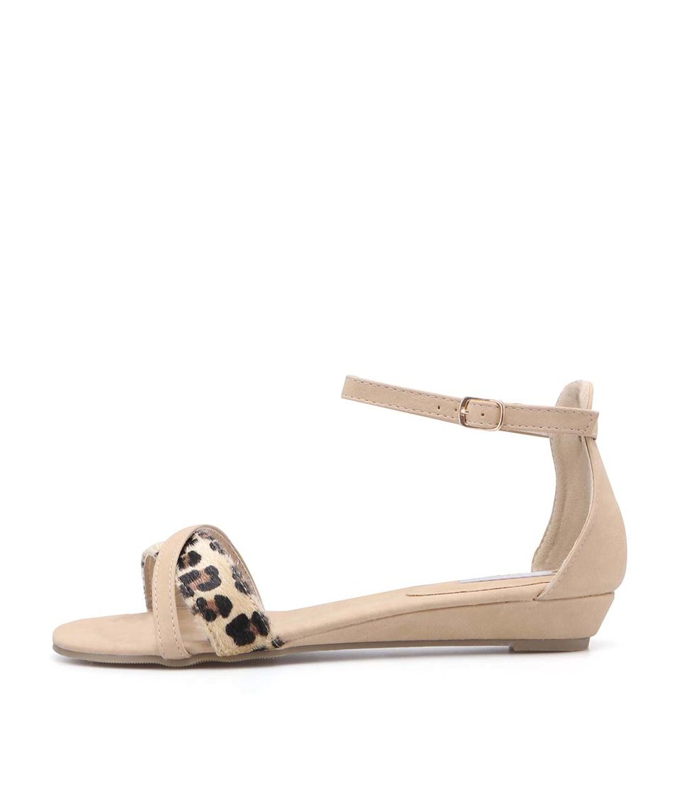 Béžové sandálky s leopardími přezkami La Push