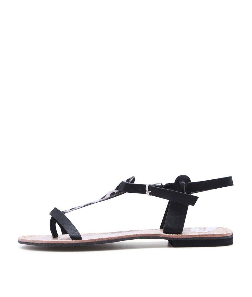 Černé sandálky s leopardím páskem La Push