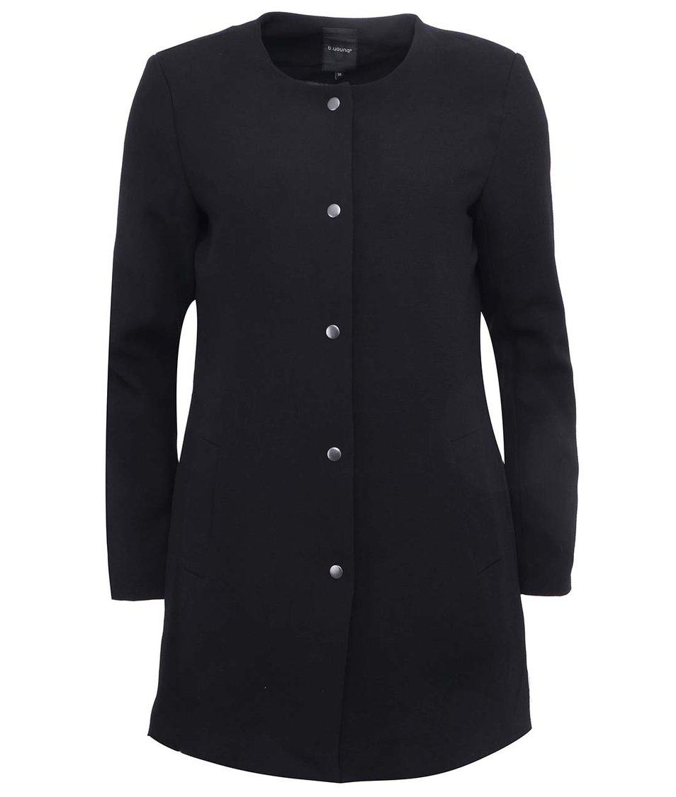 Černý delší kabát b.young Capi